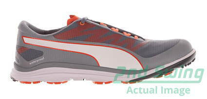 New Mens Golf Shoes Puma BioDrive Medium 11.5 Tradewinds/White/Vibrant Orange 187581-05 MSRP $100