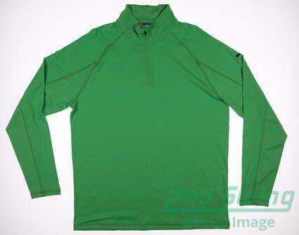 New Mens Puma Core 1/4 Zip Golf Pullover Cresting Medium M Andean Toucan MSRP $65