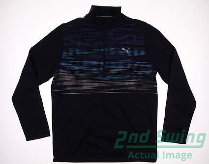 New Mens Puma Uncamo1/4 Zip Golf Pullover Medium M Peacoat MSRP $80