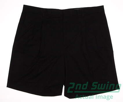 New Mens Oxford Golf Super Dry Double Pleated Shorts Size 40 Black MSRP $70 065006