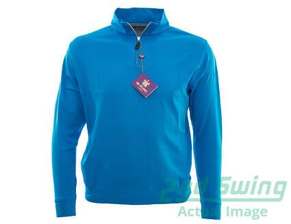 New Mens G-Mac Pearl 1/4 Zip Pullover Medium M Blue MSRP $110
