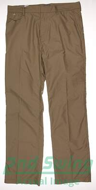 New Mens J. Lindeberg Tyrell Micro Twill Golf Pants Size 34 Khaki MSRP $135 93MG12179C006