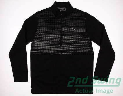 New Mens Puma Uncamo 1/4 Zip Golf Pullover Medium M Puma Black MSRP $80
