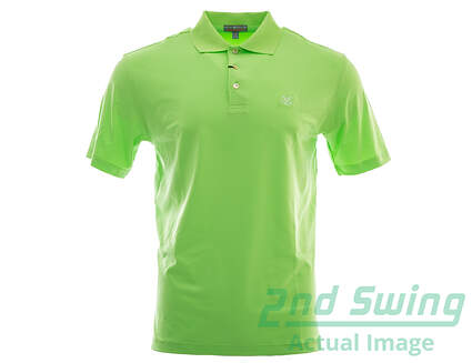 New W/ Logo Mens Peter Millar Golf Solid E4 Summer Comfort Stretch Jersey Polo Small S Green MSRP $80 MS15EK01