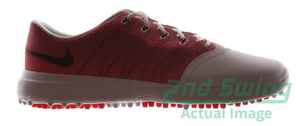 New Womens Golf Shoe Nike Lunar Empress 2 8.5 White/Orange MSRP $150
