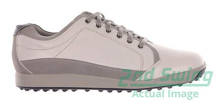 New Mens Golf Shoe Footjoy Contour Casual Medium 8.5 White/Grey MSRP $140 54204