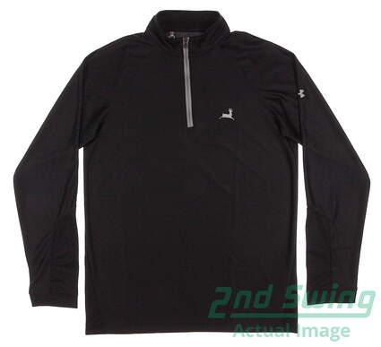 New W/ Logo Mens Under Armour Golf Loft 1/4 Zip Pullover Medium M Black MSRP $66 UM7184