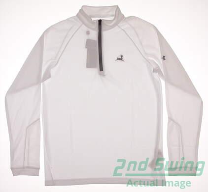 New W/ Logo Mens Under Armour Golf Loft 1/4 Zip Pullover Medium M White MSRP $66 UM7184