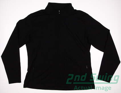 New W/ Logo Womens Footjoy Golf Performance Mid Layer Full Zip Mock Neck X-Large XL Black MSRP $85 27150