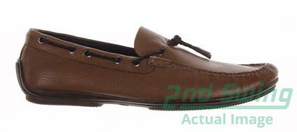 New Mens Golf Shoes Peter Millar Loafer Medium 10 Tan MSRP $300 MS16F07