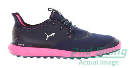 new-womens-golf-shoe-puma-ignite-sport-spikeless-65-peacoatknockout-pink-msrp-110