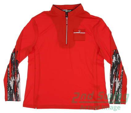 new-womens-jamie-sadock-14-zip-golf-pullover-large-l-red-msrp-95-72102