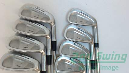 TaylorMade Rac Forged CB TP Iron Set 3-PW True Temper Black Gold Steel Stiff Right Handed 38 in