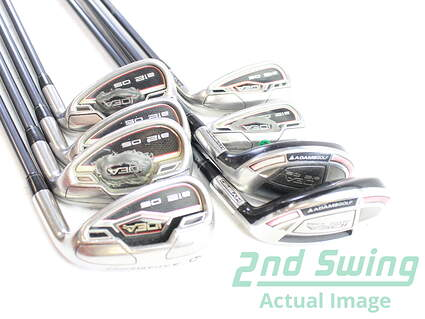 Adams Idea A12 OS Iron Set 4H 5H 6H 7-PW GW Adams Grafalloy ProLaunch Blue Graphite Lite Right Handed 38 in