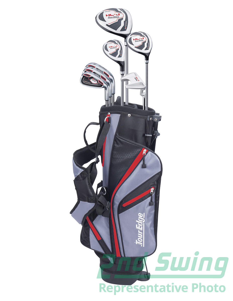 Tour Edge Hot Launch Hl J Red 9 12 Complete Golf Club Set Junior Left Handed New Golf Club 2nd Swing Golf